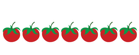 Painted vector illustration of tomatoes on white background. Symbol of fruit, food,vegetarian,vegan.