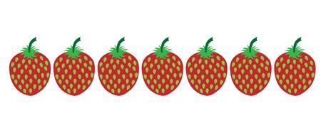 Painted vector illustration of strawberries on white background. Symbol of fruit, food,vegetarian,vegan.