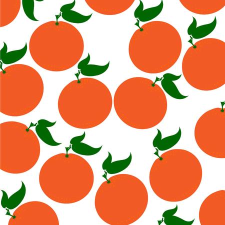 Vector illustration of painted oranges on white background. Symbol of fruit, food,vegetarian,vegan. Illustration