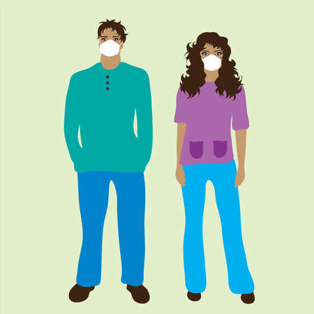 Illustration of couple of nurse and doctor. Symbol of medical care and hospital.