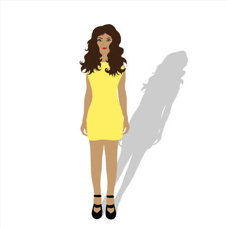 Vector illustration of woman. Symbol of fashion and person.
