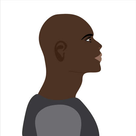 Vector illustration of African American man. Symbol of fashion and beauty.