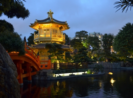 The Pavilion of Absolute Perfection in the Nan Lian Garden, Hong Kong photo