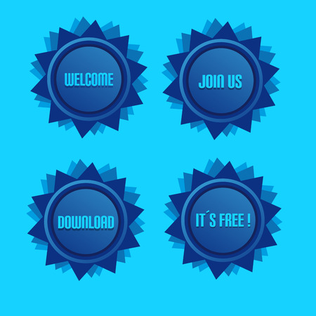 become: Blue Style Star With Label Sign And Blue Light Background