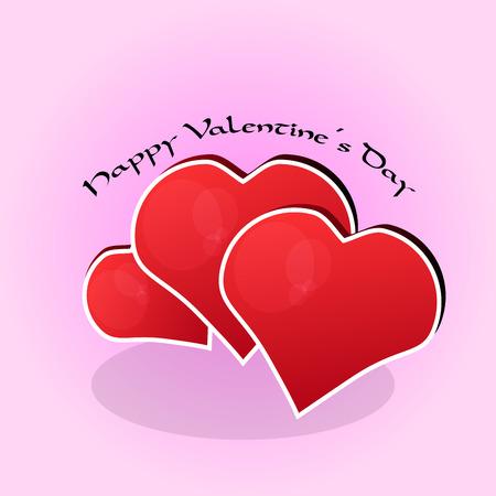 el coraz�n de san valent�n: Coraz�n rojo de San Valent�n Vectores