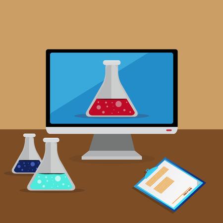 chemist: Flat Chemist Design With Chemist Bottles