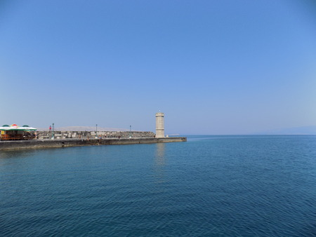 beacon: Sea, beacon and blue sky