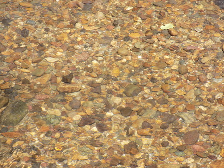 crystal clear: Crystal clear water in river