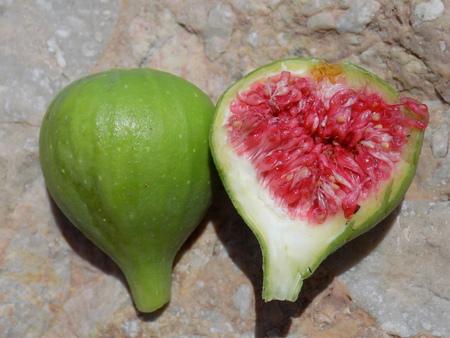 halved: Halved fig Stock Photo