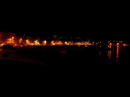 coastal city: Coastal city at night