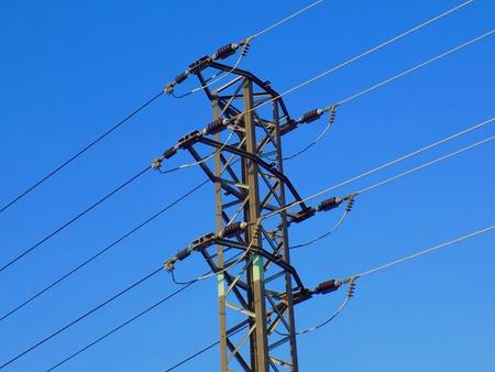 'power line': Power line column