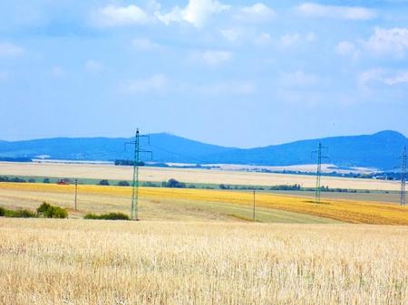 'power line': Power line on fields