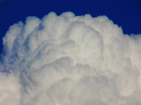 convective: Cumulonimbus convective cloud indicating storm formation through low pressure system in unstable atmosphere during summer Stock Photo