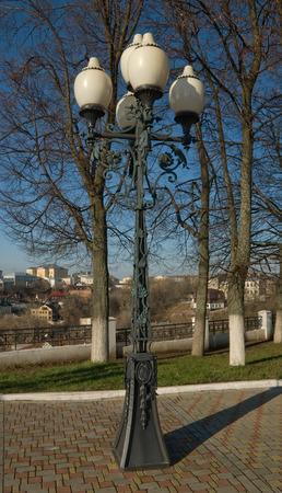 vladimir: The city of Vladimir. Decorative street lamp Stock Photo