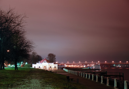 embankment: Night embankment of the Volga in Kostroma