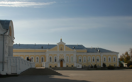 seraphim: Russia. Diveevo. Monastery of St. Seraphim of Sarov. Pilgrimage refectory (winter)