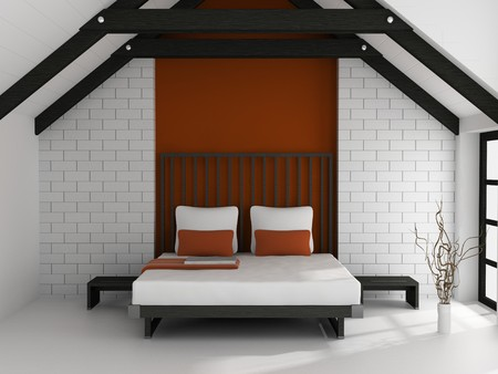Modern interior of a bedroom room 3D Stock Photo - 7109248