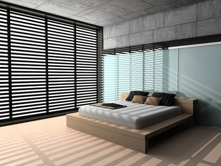 Modern interior of a bedroom room 3D Stock Photo - 7109377