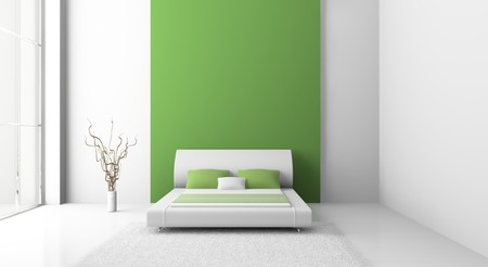 Modern interior of a bedroom room 3D Stock Photo - 7109147