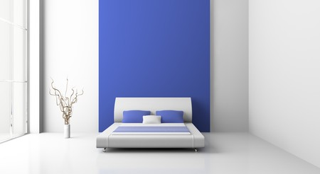 Modern interior of a bedroom room 3D Stock Photo - 7109080