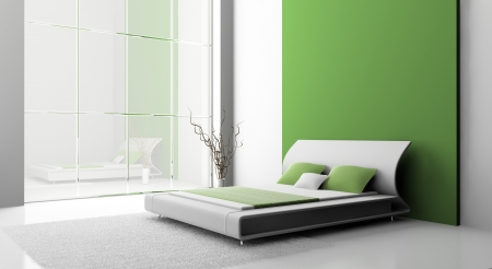 Modern interior of a bedroom room 3D Stock Photo - 7109163