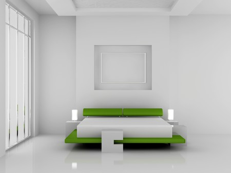 Modern interior of a bedroom room 3D Stock Photo - 7109116