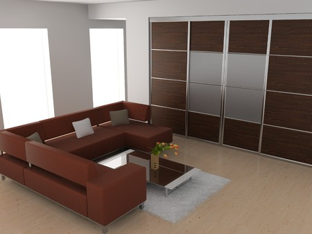 modern sofa  in the  room  Stock Photo