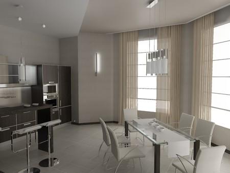 Modern interior of kitchen