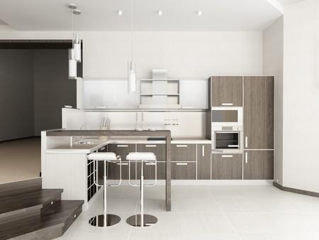Modern interior of kitchen photo