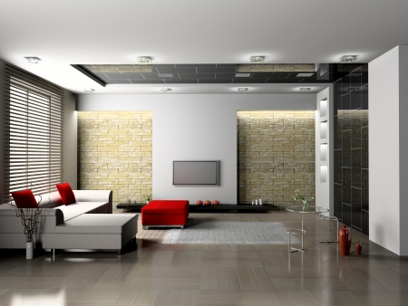 Living room 3D Stock Photo - 23000570