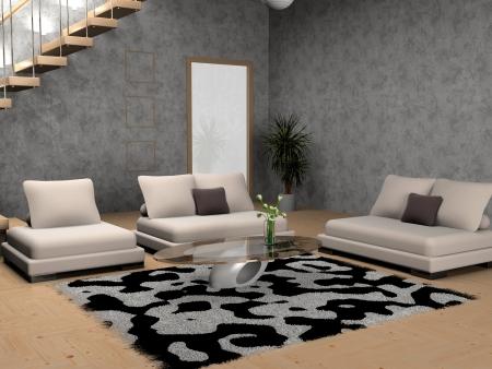 Living room 3D Stock Photo - 23000573