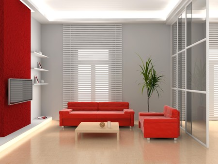 modern interior of living room 3D Stock Photo - 7109183