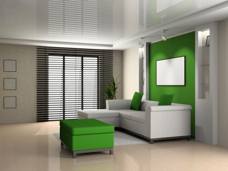Living room 3D Stock Photo - 23000579