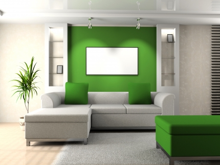 Living room 3D Stock Photo - 23000581