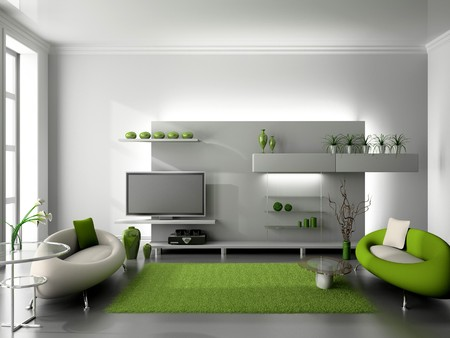 modern interior of living room 3D Stock Photo - 7109335