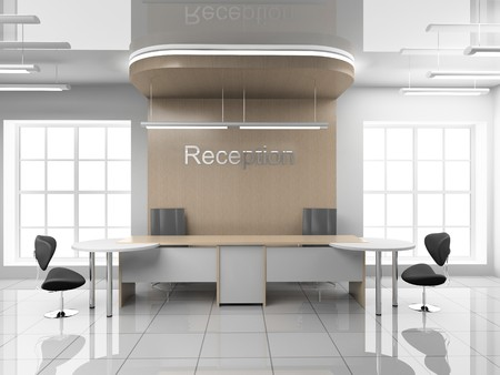 Modern reception at office 3D