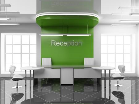entrance hall: Modern reception at office 3D