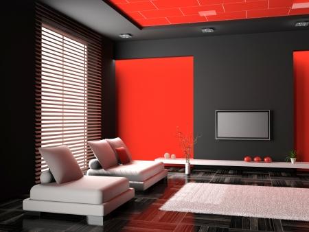 Living room 3D Stock Photo - 23000588