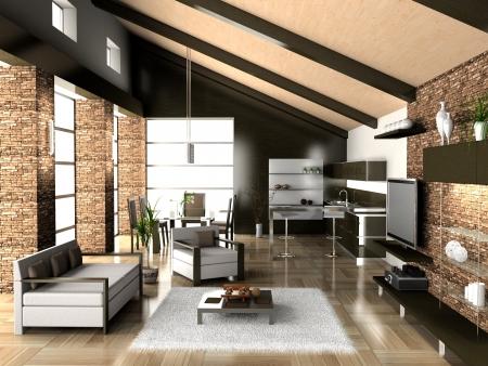 Living room 3D Stock Photo - 23000589