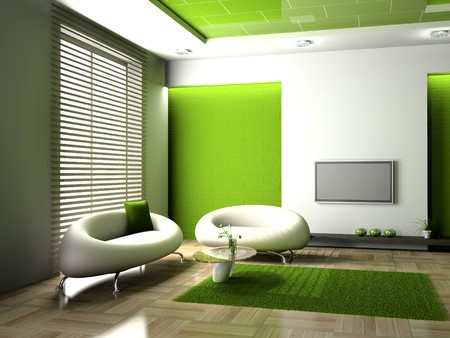 modern interior of living room 3D Stock Photo - 7349331