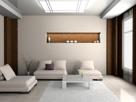modern sofa  in the  room  Фото со стока