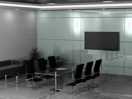 Intérieur moderne bureau 3D