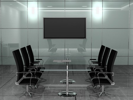 Interior of modern Office 3D  Standard-Bild - 7349325