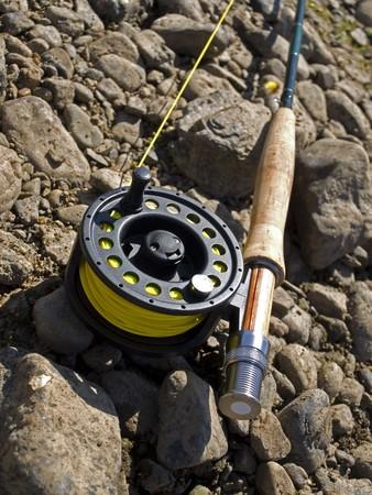 flyfishing: fishing-rod for fly-fishing