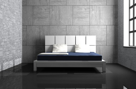 Modern interior of a bedroom room 3D Stock Photo - 7546316