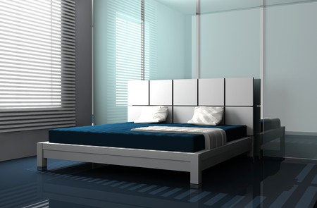 Modern interior of a bedroom room 3D Stock Photo - 7641590