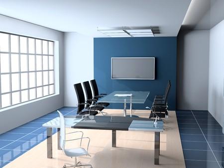 Interior of modern Office 3D Standard-Bild - 7641592