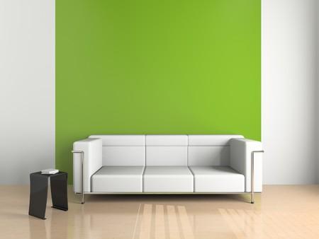 sofa on the white background (3D) Stock Photo - 7817607