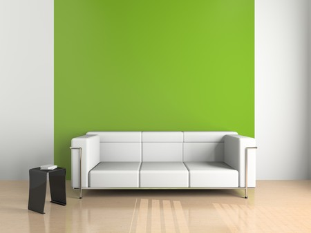 modern sofa: sofa on the white background (3D)