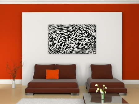 Image of a modern sofa 3D Stock Photo - 23000599
